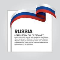 nastro bandiera russia onda astratta