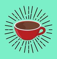 concetto di vettore di tazza calda di caffè rosso