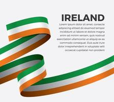 Irlanda bandiera astratta onda nastro vettore