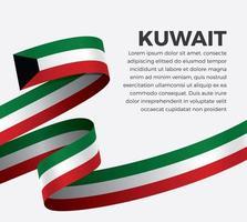 kuwait onda astratta bandiera nastro