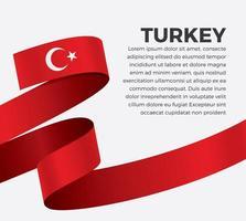 Turchia bandiera astratta onda nastro