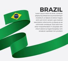 nastro bandiera brasiliana onda astratta
