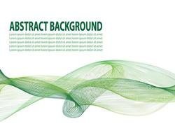 copertina del manifesto fluida con colore verde moderno. modello geometrico astratto bianco verde con forme di fusione. vettore