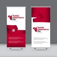 illustrazione felice di progettazione del modello di vettore di celebrazione del giorno dell'indipendenza della tunisia
