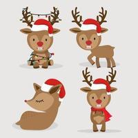 simpatico cervo con set di cappello rosso
