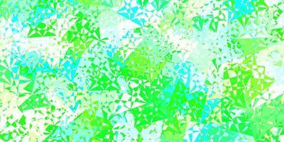 sfondo vettoriale verde chiaro con triangoli.