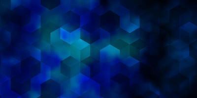 modello vettoriale azzurro in stile esagonale.