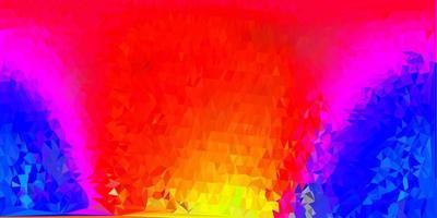 layout poligono sfumato vettoriale rosa scuro, giallo.
