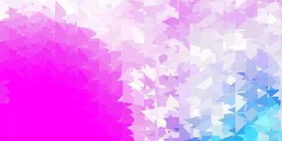 modello di triangolo poli vettoriale rosa chiaro, blu.