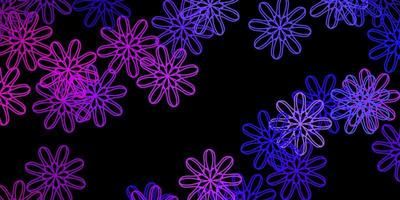 modello vettoriale viola scuro, rosa con forme astratte.