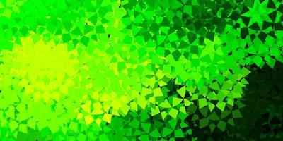 layout vettoriale verde chiaro, giallo con forme triangolari.