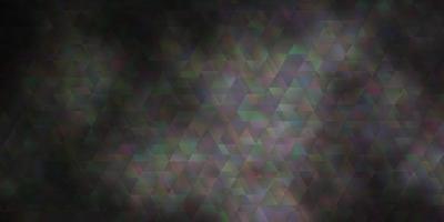 sfondo vettoriale grigio chiaro con linee, triangoli.