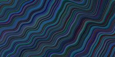 layout vettoriale blu scuro con linee piegate.