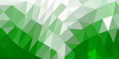 disegno a mosaico triangolo vettoriale verde scuro.