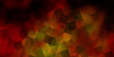 layout vettoriale arancione scuro con rettangoli, triangoli.