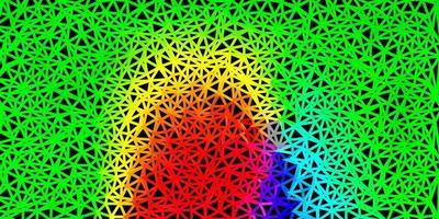 sfondo triangolo astratto vettoriale verde scuro.