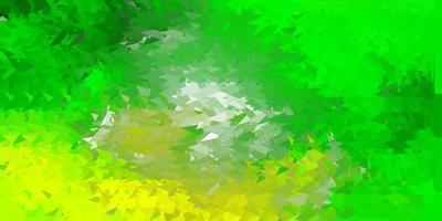 carta da parati del mosaico del triangolo di vettore verde chiaro, giallo.