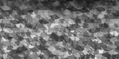 sfondo vettoriale grigio chiaro con stile poligonale.