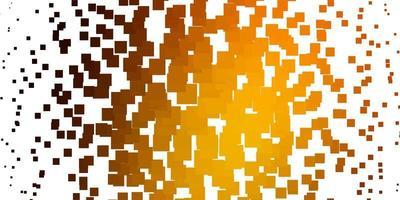 layout vettoriale arancione chiaro con linee, rettangoli.