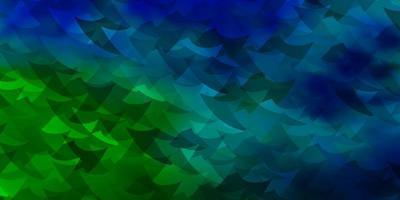 sfondo vettoriale azzurro, verde con linee, rombo.