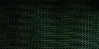 modello vettoriale verde scuro con linee.