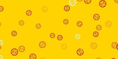 trama vettoriale arancione chiaro con simboli religiosi.