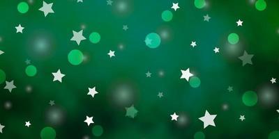 layout vettoriale verde chiaro con cerchi, stelle.