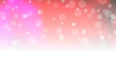 sfondo vettoriale rosa scuro, giallo con cerchi.