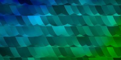 sfondo vettoriale azzurro, verde con esagoni.