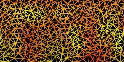 carta da parati poligonale geometrica di vettore verde scuro, giallo.
