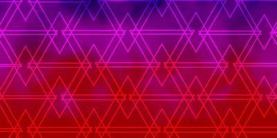 sfondo vettoriale viola chiaro, rosa con triangoli.