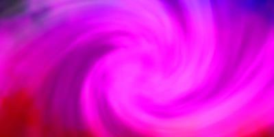 sfondo vettoriale viola chiaro, rosa con nuvole.