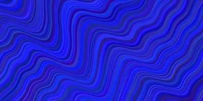 modello vettoriale blu scuro con linee curve