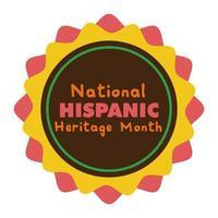 patrimonio nazionale ispanico scritte in icona di stile piatto di pizzo