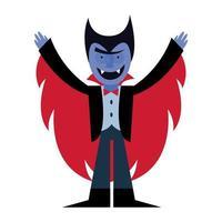 disegno di vettore del fumetto del vampiro di Halloween