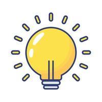 icona di stile piatto della lampadina vettore