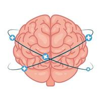 cervello umano con più simboli