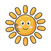personaggio comico del sole kawaii
