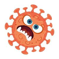covid 19 virus cartoon design vettoriali
