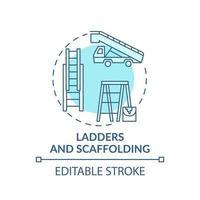icona del concetto di scale e ponteggi