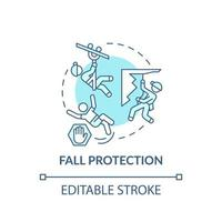 icona del concetto di protezione anticaduta