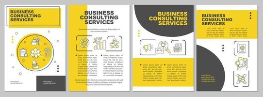 modello di brochure di servizi digitali aziendali