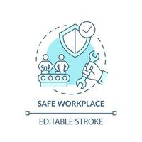 icona del concetto di posto di lavoro sicuro