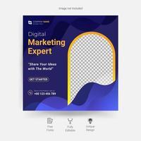 modello di post sui social media di marketing aziendale creativo vettore