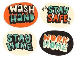 lavarsi le mani con l'illustrazione del sapone vettore