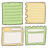 disegno dell'illustrazione del fumetto del blocco note vettore