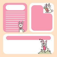 blocco note disegni simpatici gatti per elencare le note quotidiane vettore