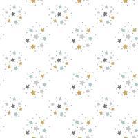 Vector seamless scandinavo bambino modello con stelle per web, stampa, carta da parati, tessuto moda, design tessile, sfondo per carta di invito o decorazioni per le vacanze