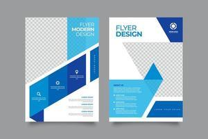 moderno volantino aziendale blu con disegno astratto