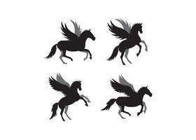 Icona di unicorno modello di progettazione illustrazione vettoriale isolato